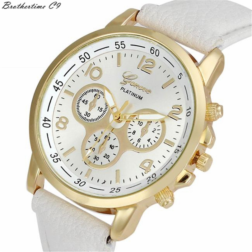 Fashion watch women relogio feminino Unisex Casual Geneva Leather Quartz Analog Wrist Watch Men Watches Clock Gift relojes mujer geneva watches women fashion diamond dial quartz wrist watch womens pu leather analog cheap watch men clock relogio reloj zer
