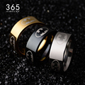 8mm Finger Jewelry 316L Stainless Steel anel Batman Ring Gold Black Titanium Plated Wedding Rings for Men Women Party Gift