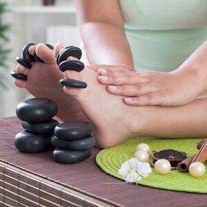 Image 2 - Sıcak taş masajı lava taşlar doğal enerji masaj Spa taşlar Set kaya bazalt toptan vücut sağlık