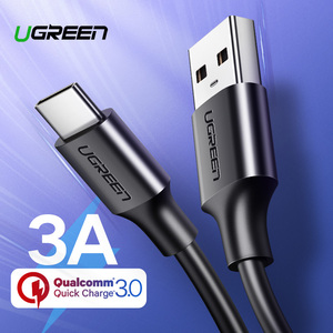 Ugreen USB Type C Cable for Xiaomi Redmi Note 7 mi9 USB C Cable for Samsung S9 Fast Charging Wire USB-C Mobile Phone Charge Cord