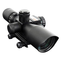 Tactical 2.5 10x40 Riflescope Green Red Dual Illuminated Rifle scope Red Dot Laser Sight Hunting Scope Optical Sight caza