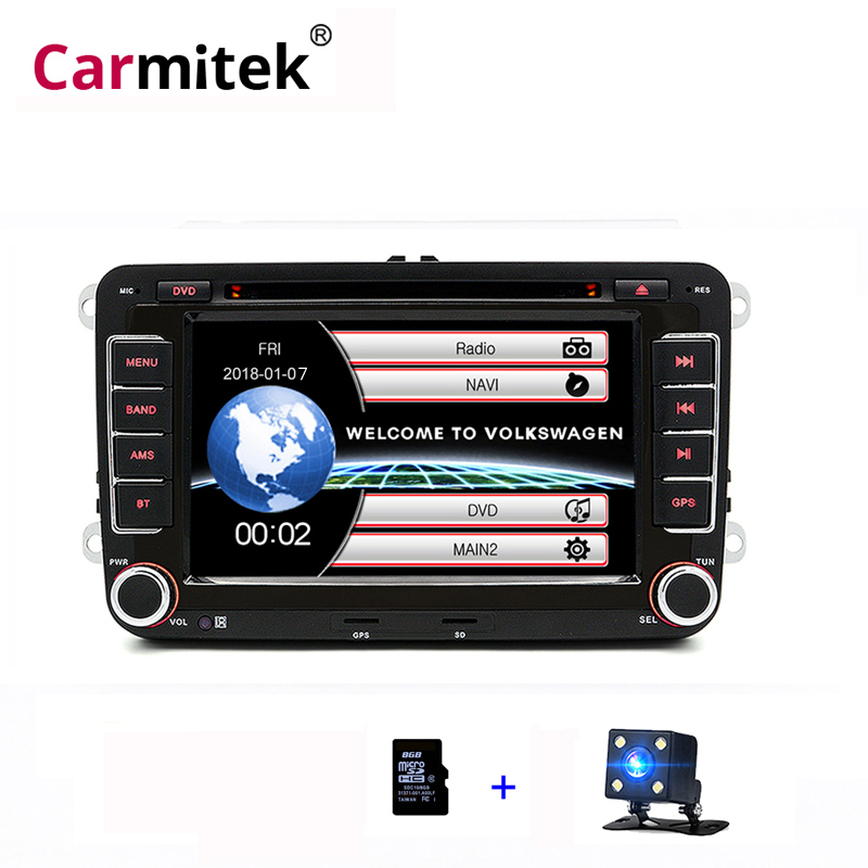 Rádio Do Carro DVD Multimídia GPS para Jetta Passat b6 Polo Sedan CC Amarok Caddy Golf 5 Escola Rápida Multiven Scirocco tiguan Touran