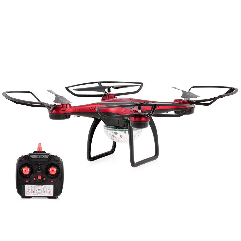 X58 RC Quadcopter Disco Ball Dron Colorful Light Altitude Hold Training Drone Kids Toys vs E58 X12