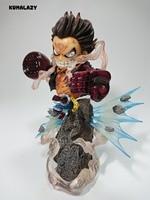 KUMALAZY One Piece Luffy Gear Fourth Monkey D Luffy Effect Sence 20CM PVC Action Figure Model Chirstmas Gift