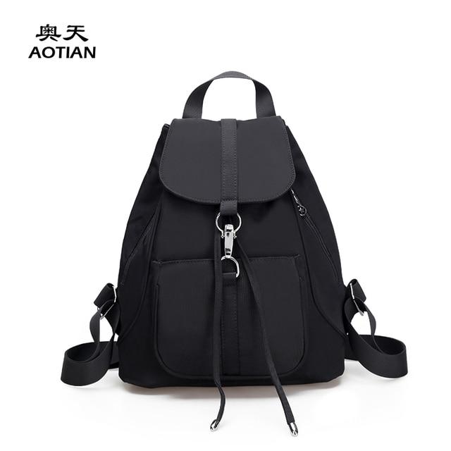 0793d445445e Sky fantasy nylon solid Korean and Japan preppy style youth fashion classic  cute girls small vogue fresh plain popular backpacks