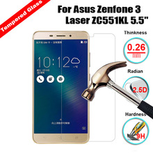 2PCS Screen Protector Film Glass For Asus Zenfone 3 Laser ZC551KL Tempered Glass For Asus Zenfone 3 Laser ZC551KL Glass Film защитное стекло partner для asus zenfone3 laser zc551kl 9h