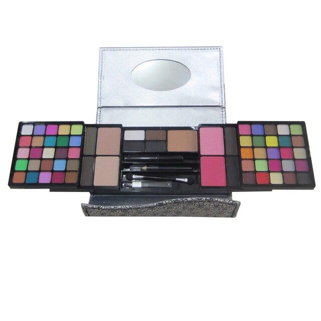Pro 50 Pretty colors Matte eye shadow blusher makeup palette nude eyeshadow eyebrow powder Women Facial Cosmetic leather case