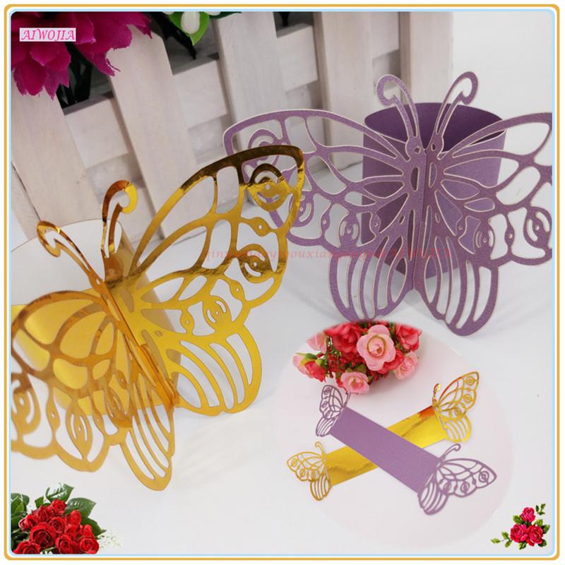 unids mariposa de papel para la decoracin del banquete de boda del corte del