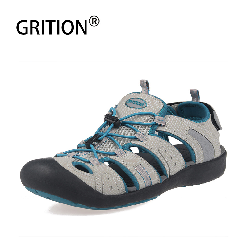 GRITION Women Sneakers Outdoor Sandals For Women Breathable Light Summer Beach Shoes Rubber Sole Hiking Sandals Walking Shoes