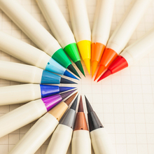 14/20 Set Красочные каллиграфия ручка Soft Кисточки Маркер Акварель маркер DIY граффити Manga рисования маркером Fineliner маркер