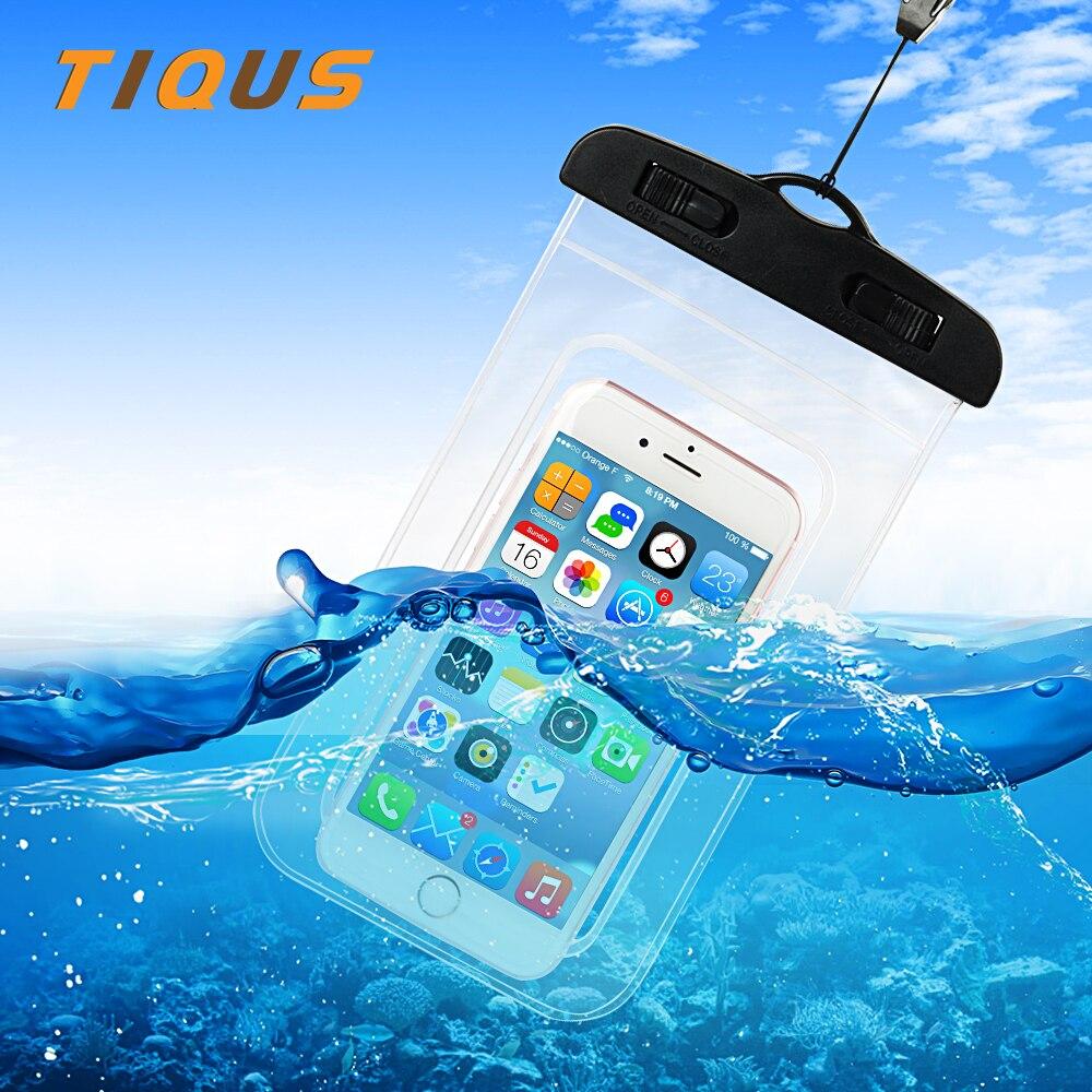 Universal Waterproof Case IPX8 Phone Pouch Dry Bag With Clip for iPhone 8 7 7 Plus 6 Xiaomi Redmi 4X 5X Note 4X 5A Oneplus 5 pochette étanche pour téléphone