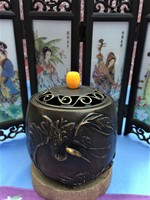 Copper Cranes Incense Burner Small And Thick Incense Burner Holder With Gift Box