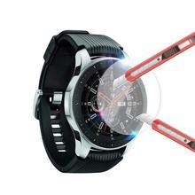 2 個フルカバー強化ガラス画面保護フィルム腕時計 46 ミリメートル 42 ミリメートル高品質 2.5D 画面保護フィルム