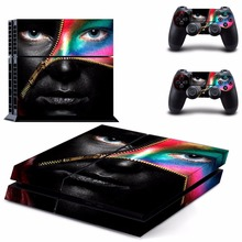 New man face Decal PS4 Skin Sticker For Sony Playstation 4 PS4 Console +2Pcs Controller protective skins