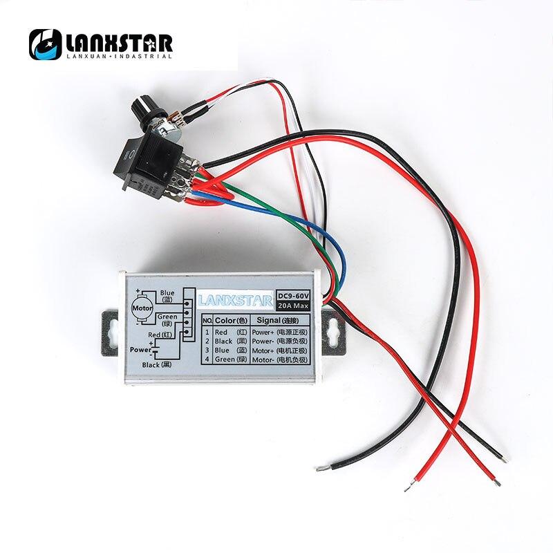 Switching PWM DC Motor Governor 12V/24V/48V/60v/40A Universal Positive Reversal Stepless Speed Regulation