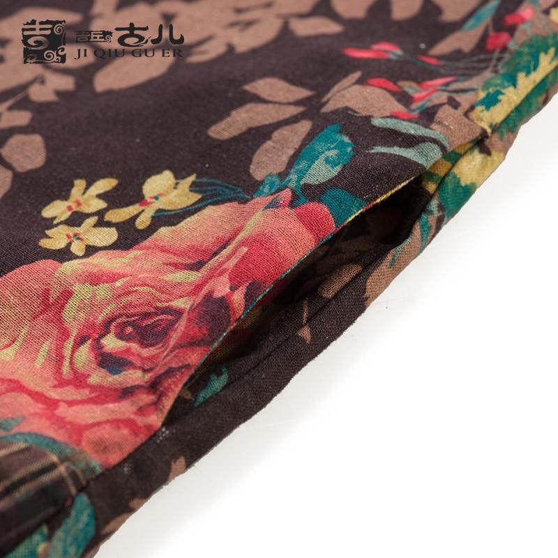 Jiqiuguer Women Flower Print patchwork Cotton Dresses vintage plaid Plus  Size O neck Full Sleeve loose autumn Vestidos G163Y036-in Dresses from  Women s ... cca08a4660d8