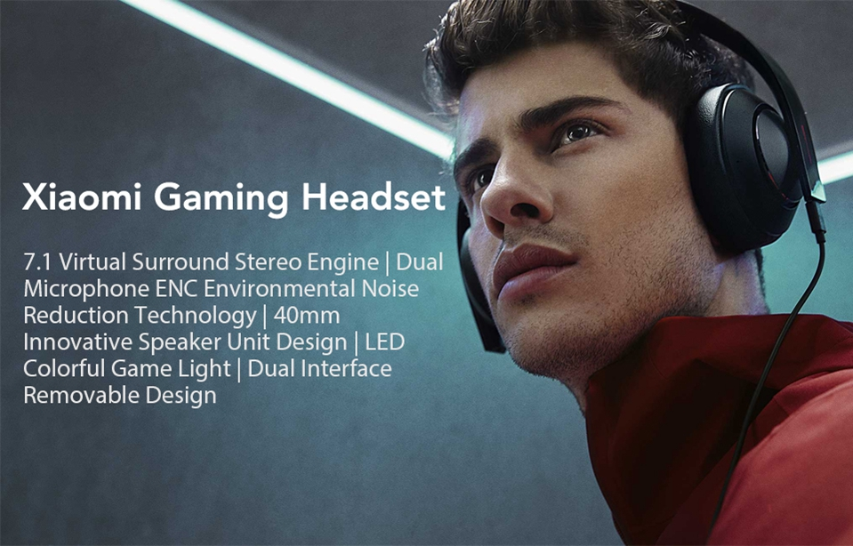 Xiaomi Gaming Headset 7.1 Surround Sound Grephene LED Headphone With Double Mic Noise Reduction Heavy Bass Stereo for PC (1)