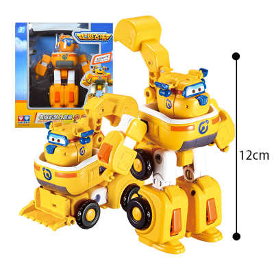 12cm*11cm Super Wings toys jett jerome mira paul bello donnie transformation Robot Plane Action Figure Toys For Christmas Gifts