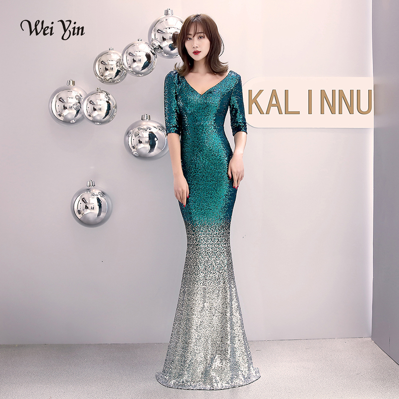 Wei Yin Green Sequins Cocktail Dresses 2019 New Arrival Sexy V Neck Spaghetti Party Gown Bodycon Vestido Coctel Corto Wy1622 Save 50-70% Weddings & Events