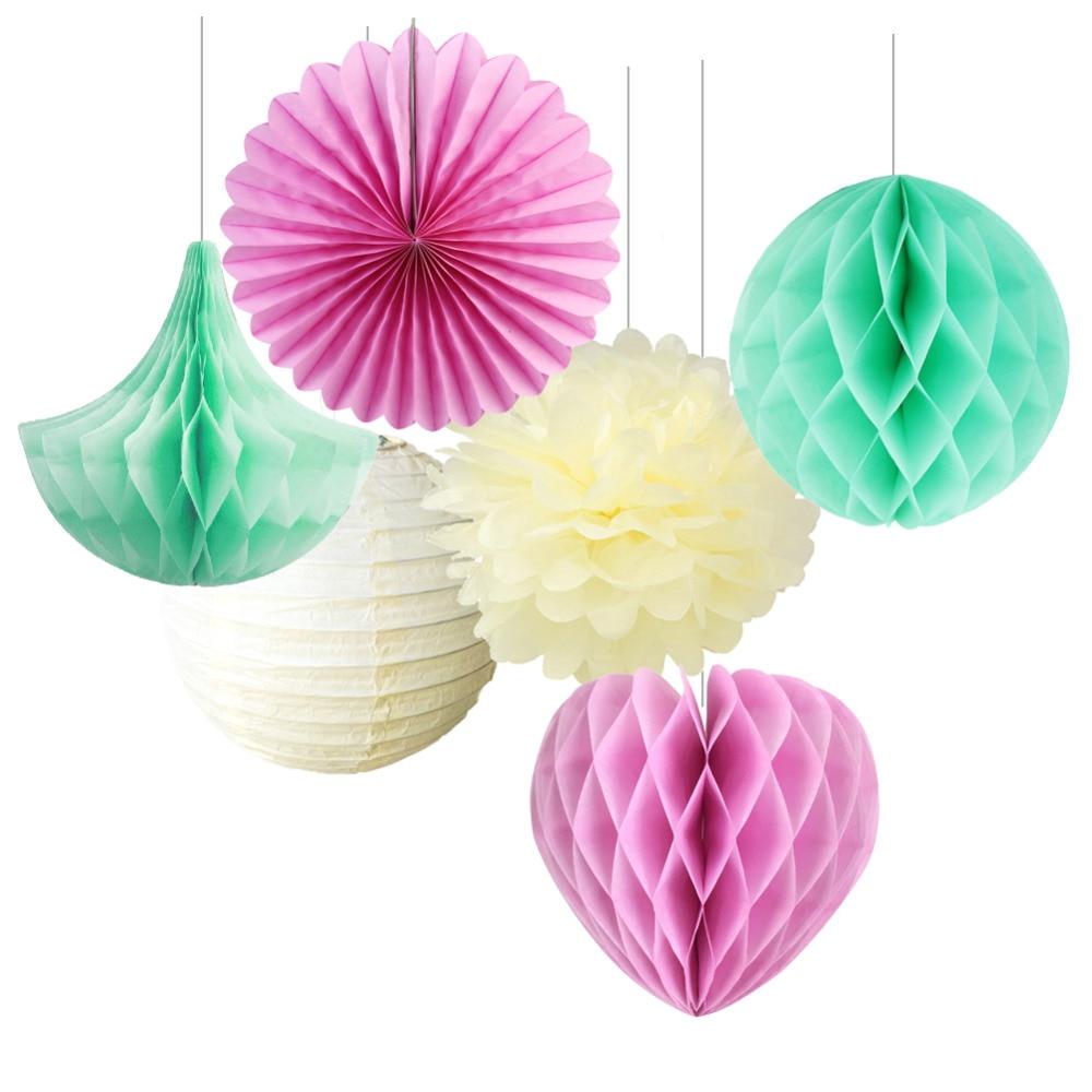 Sunbeauty 40pcs 25cm Small Decorative Tissue Paper Honeycomb Balls