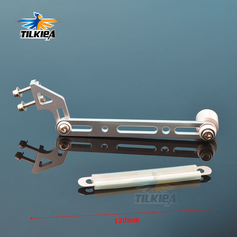 Titanium color Aluminum Antenna Mount for RC Racing Speed Boat Model Ship Yacht