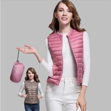 Winter Women Slim Down duck Warm Coat Jacket Sleeveless Vest