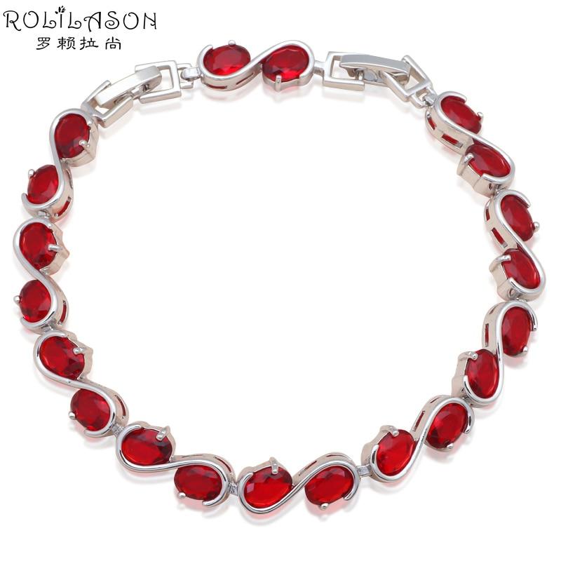 0a66af547341 Diseño de marca AAA zirconia granate pulseras para las señoras plata  cristal rojo al por mayor y al por menor joyería TB852