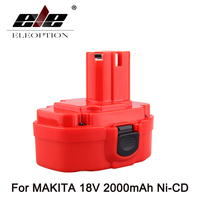 Eleoption New Rechargeable Power Tool Battery For MAKITA 18V 2000mAh Ni CD Red 1822 1823 1834