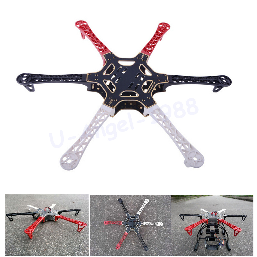 Wholesale 1pcs F550 HJ550 Quadcopter Kit Frame Hexacopter suitable for KK MK MWC Dropship wholesale 1pcs mwc multiwii standard se v2 5 flight controller for multicopter quad x gimbal dropship