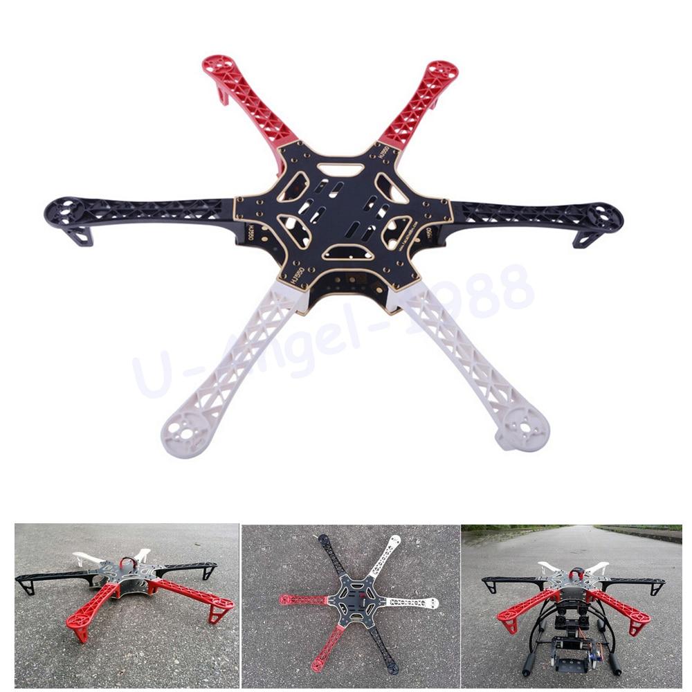 Wholesale 1pcs F550 HJ550 Quadcopter Kit Frame Hexacopter suitable for KK MK MWC Dropship