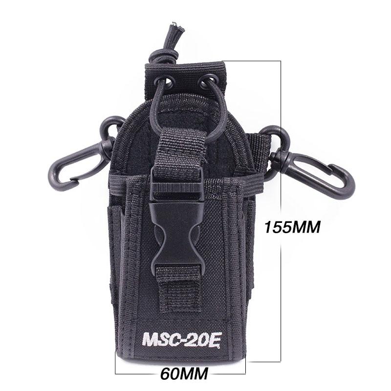 Abbree MSC-20E Tragbare Walkie Talkie Nylon Fall Abdeckung Halter für Yaesu Baofeng UV-5R UV-9R Plus UV-XR TYT Woxun Motorola Radio