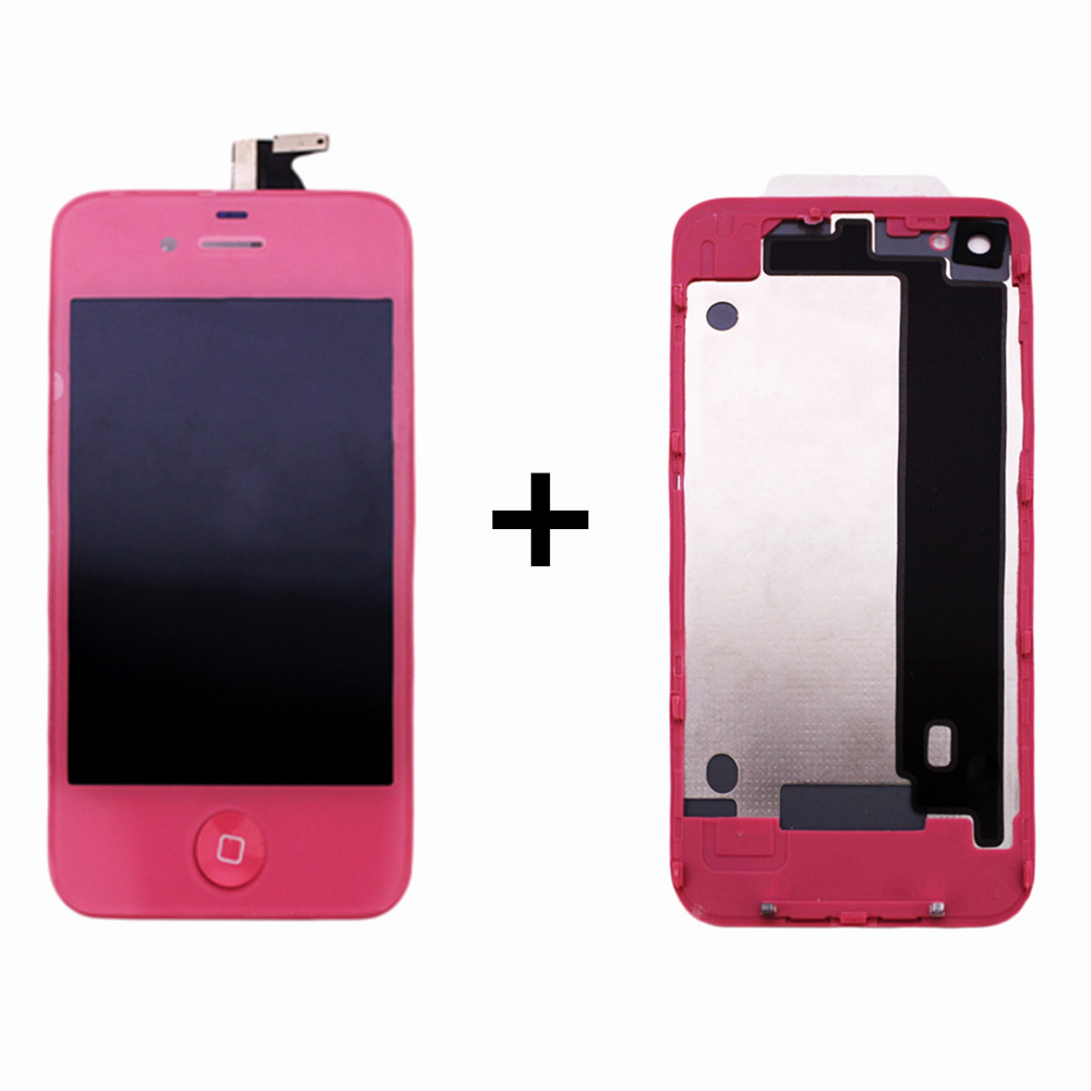 ФОТО For apple 4 LCD Display +Touch Screen Digitizer Assembly Replacement parts For iphone 4 +battery housing cover
