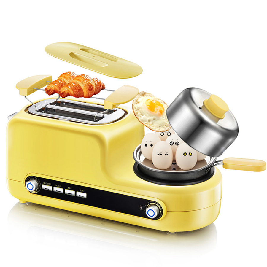 Multi-Function Heating Crisp Bread Machine Household Machine 3 In 1 Breakfast Toast, Fried Eggs One Driver 220V