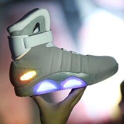 Zurück In Die Zukunft Schuhe Cosplay Marty McFly Turnschuhe Schuhe LED Licht Glow Tenis Masculino Adulto Cosplay Schuhe Wiederaufladbare