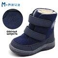 MMNUN 2017 Novos Sapatos de Inverno para Crianças de Feltro sapato de Alta Qualidade Sapatos de Inverno das Crianças para Meninas Crianças Quentes Sapatos de Neve