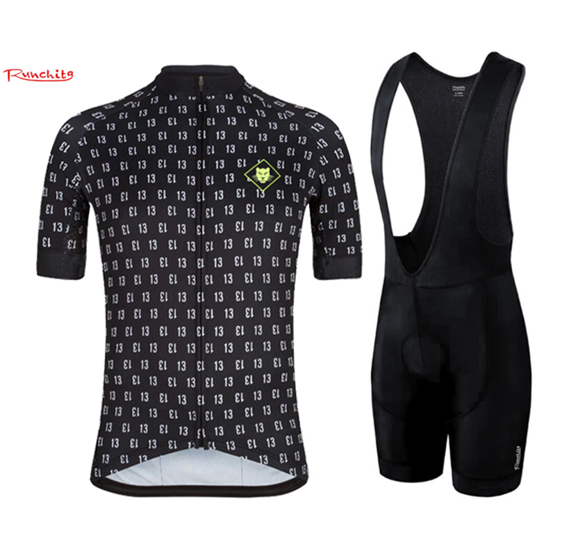 5231cd434 Runchita 2018 pro team cycling jersey short sleeve set summer mens Bicycle  Ropa Ciclismo Clothing Custom with Bib Pants maillot-in Cycling Sets from  Sports ...