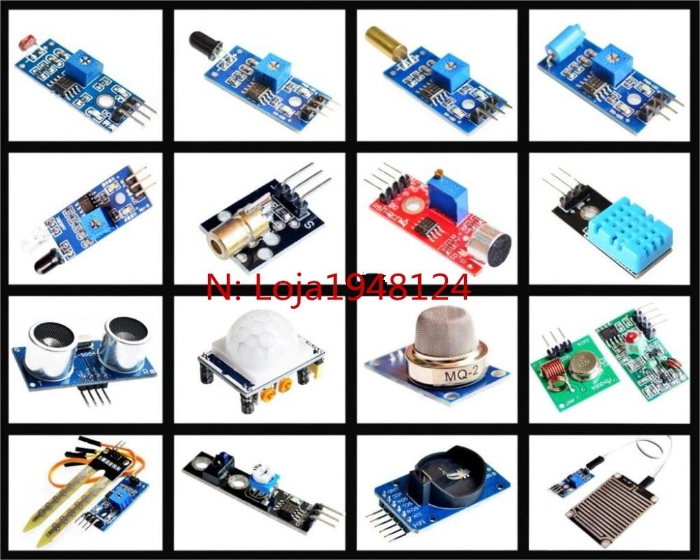 16pcs/lot Raspberry pi 2 the sensor module package 16 kinds of sensor Free shipping16pcs/lot Raspberry pi 2 the sensor module package 16 kinds of sensor Free shipping