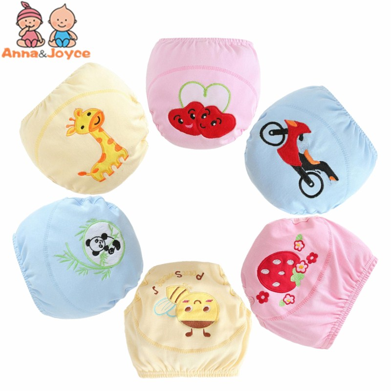 8Pcs/lot  retail  Baby Training Pants Baby Diaper Reusable Nappy Washable Diapers Cotton 6 designs suit 8-15kg