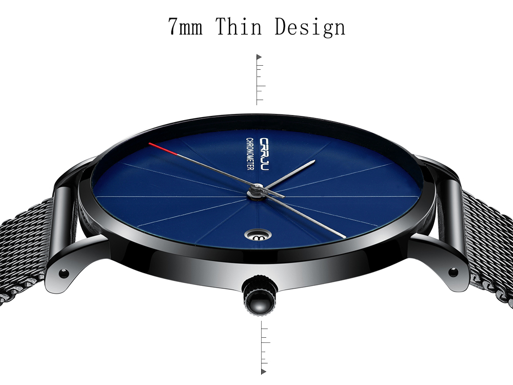 relogio masculino CRRJU Top Luxury Brand Analog sports Wristwatch Display Date Men's Quartz Watches Business Watch Men Watch