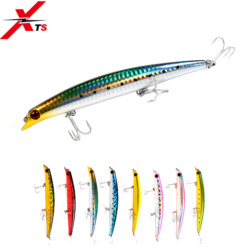 XTS Fishing Lure Artificial Hard Floating Popper For Sea Fishing 3 Sizes Minnow Lure Bait Fishing Tackle Jerkbait Crankbait 5326