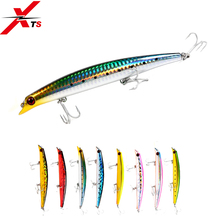XTS Fishing Lure Artificial Hard Floating Popper For Sea Fishing 3 Sizes Minnow Lure Bait Fishing Tackle Jerkbait Crankbait 5326 serpentine popper pencil lure bait popper minnow 14cm 26g bionic sea fishing bait
