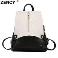 ZENCY 2019 New Fashion Genuine Leather Crocodile Pattern Women's Backpacks Ladies' School Bag Female Cowhide Designer Backpack