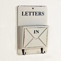 High Quality Zakka Keys Hanging Hooks Envelope Sundries Storage Box Retro Rangement Shelf Wood Boxes Vintage