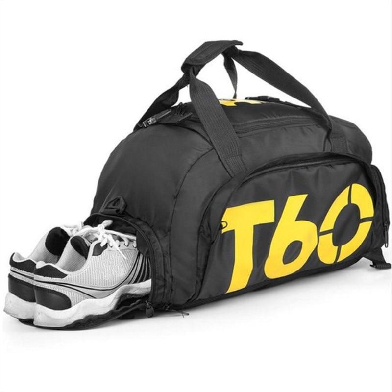 Femmes sacs de sport en plein air hommes sac de sport Fitness homme voyage sac à main sac à dos chaussures séparées zone mode