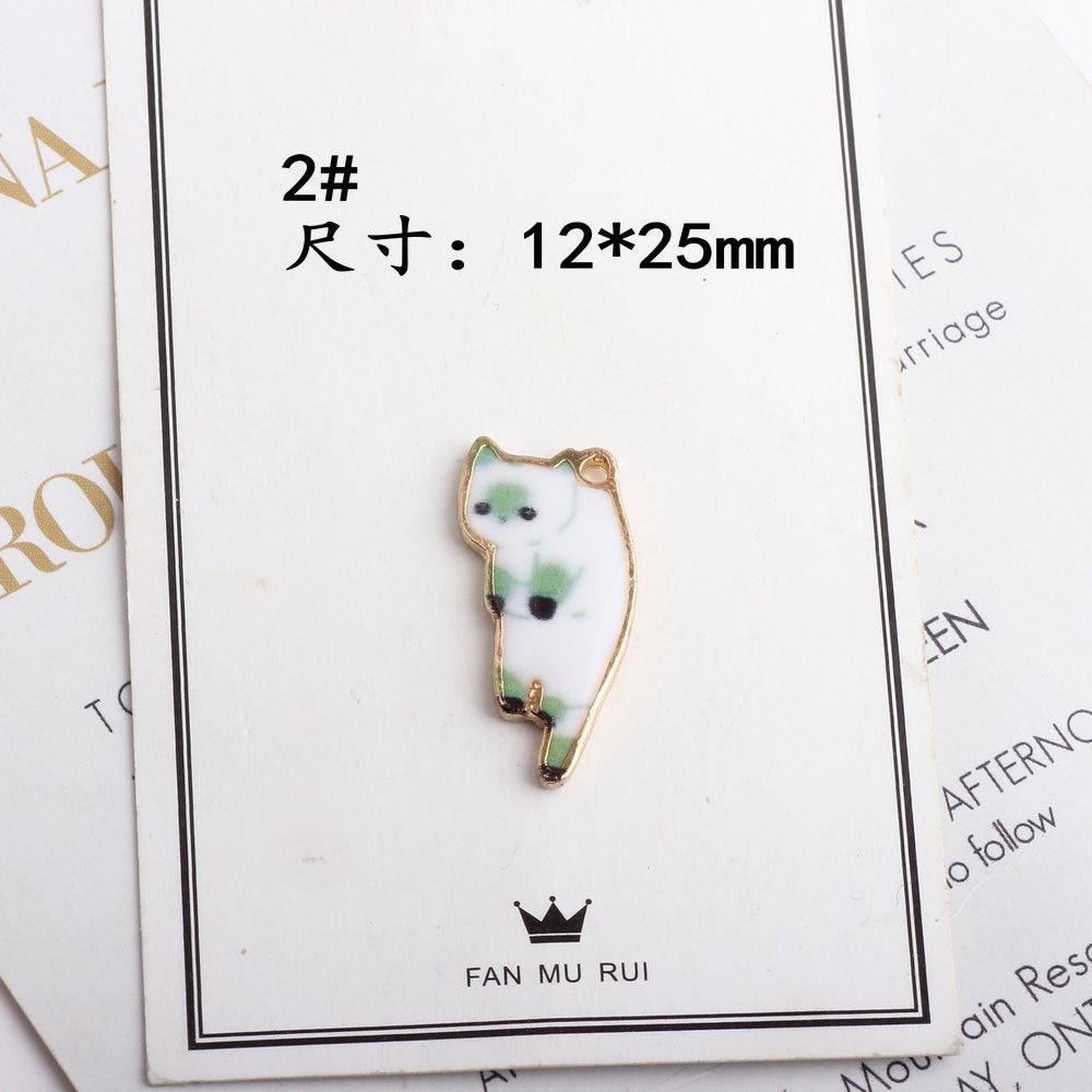 10pcs Assorted Acrylic Cat Charm Pendants Kawaii Jewellery Craft