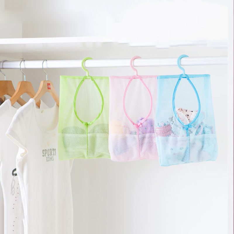 Multi-function Space Saving Hanging Mesh Bags Clothes Organizer For Bedroom Etc.