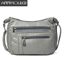 Annmouler Bolso cruzado de diseñador para mujer, bandolera de bolso de hombro de cuero de Pu suave, de buena calidad, tamaño pequeño