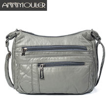 Annmouler مصمم النساء Crossbody حقيبة لينة حقيبة كتف جلدية Pu نوعية جيدة حقيبة ساعي صغيرة حجم محفظة حقائب سيدات