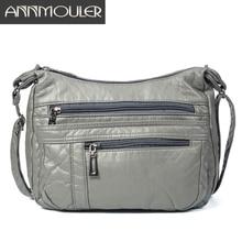 Annmouler Designerผู้หญิงCrossbodyกระเป๋านุ่มPuหนังไหล่กระเป๋าMessengerคุณภาพดีกระเป๋าขนาดเล็กกระเป๋าถือสุภาพสตรีกระเป๋าถือ