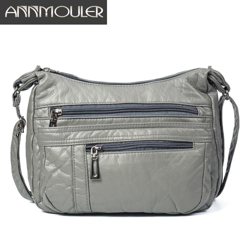 Annmouler Designer Women Crossbody Bag Soft Pu Leather Shoulder Bag Good Quality Messenger Bag Small Size Purse Ladies Handbags